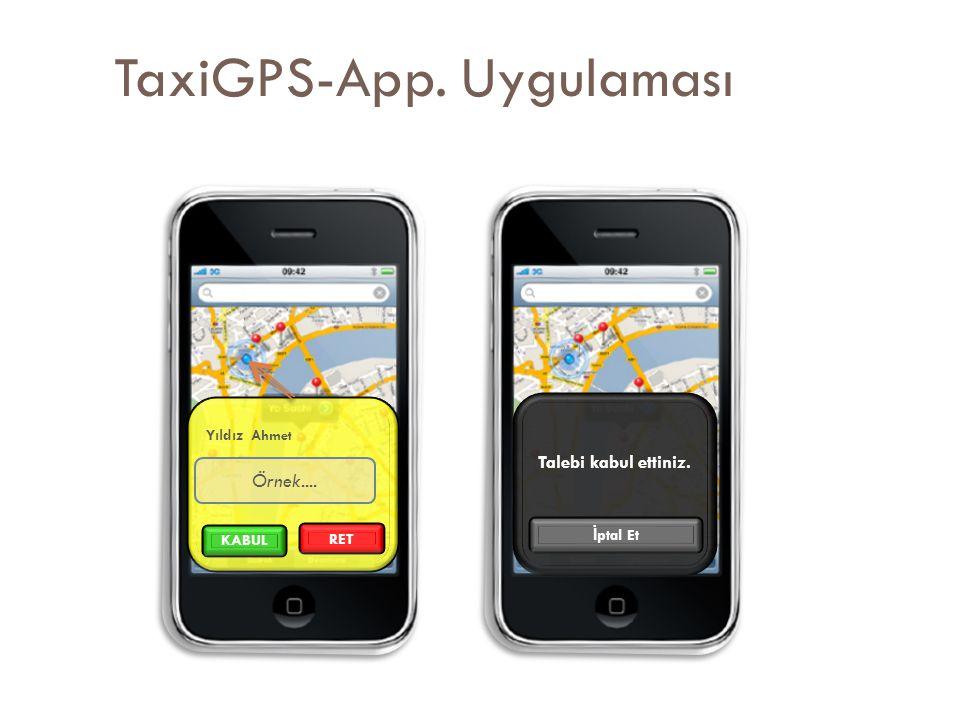 TaxiGPS-App. Uygulaması Yıldız Ahmet RET Örnek.... KABUL Talebi kabul ettiniz. İ ptal Et