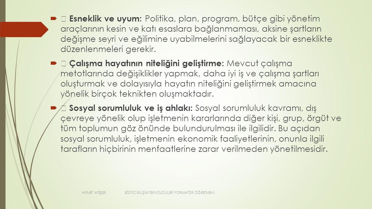 VERİMİ ETKİLEYEN SORUNLAR  8.