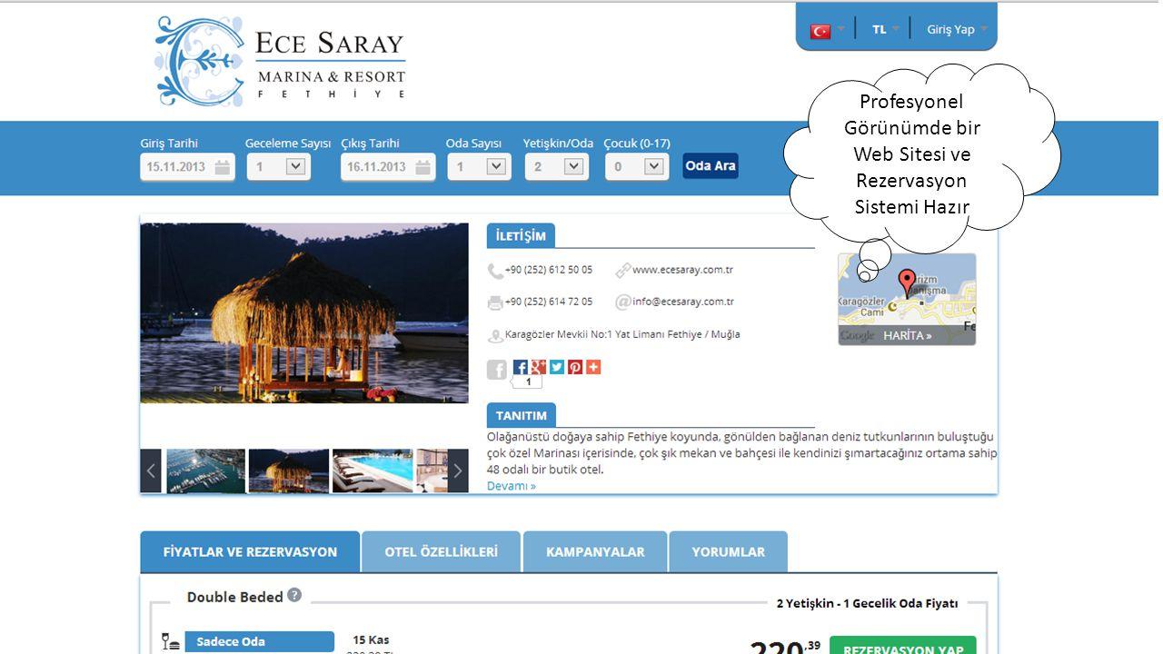 Profesyonel Görünümde bir Web Sitesi ve Rezervasyon Sistemi Hazır
