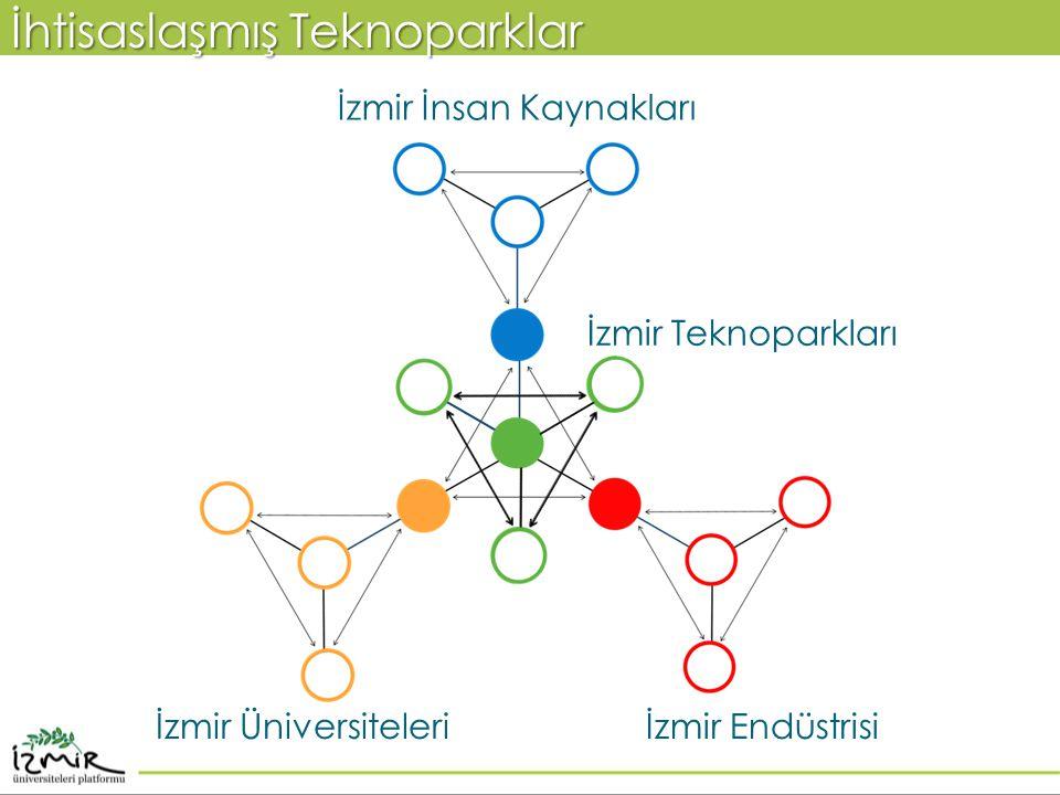 İhtisaslaşmış Teknoparklar İzmir Teknoparkları İzmir Üniversiteleri İzmir İnsan Kaynakları İzmir Endüstrisi