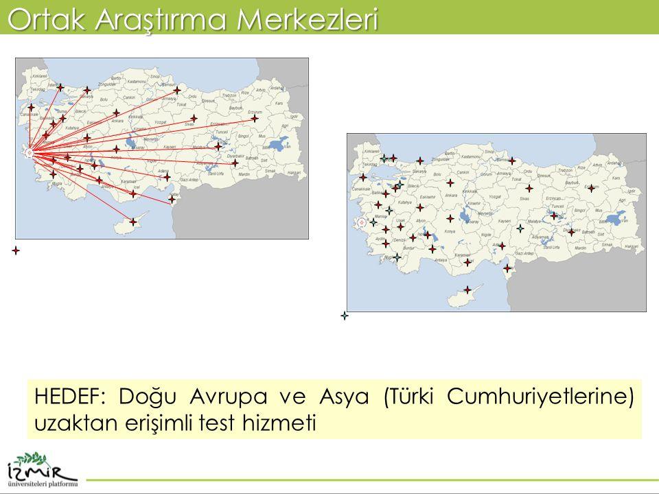 Ortak Araştırma Merkezleri HEDEF: Doğu Avrupa ve Asya (Türki Cumhuriyetlerine) uzaktan erişimli test hizmeti