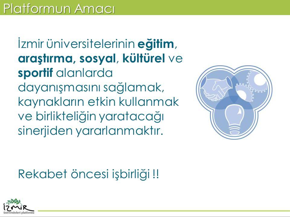İzmir üniversitelerinin eğitim, araştırma, sosyal, kültürel ve sportif alanlarda dayanışmasını sağlamak, kaynakların etkin kullanmak ve birlikteliğin