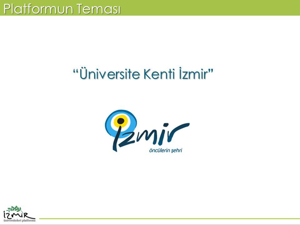 """""""Üniversite Kenti İzmir """"Üniversite Kenti İzmir """" Platformun Teması"""