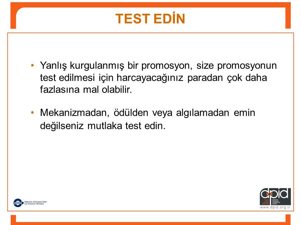 •Mekanizmadan, ödülden veya algılamadan emin değilseniz mutlaka test edin.