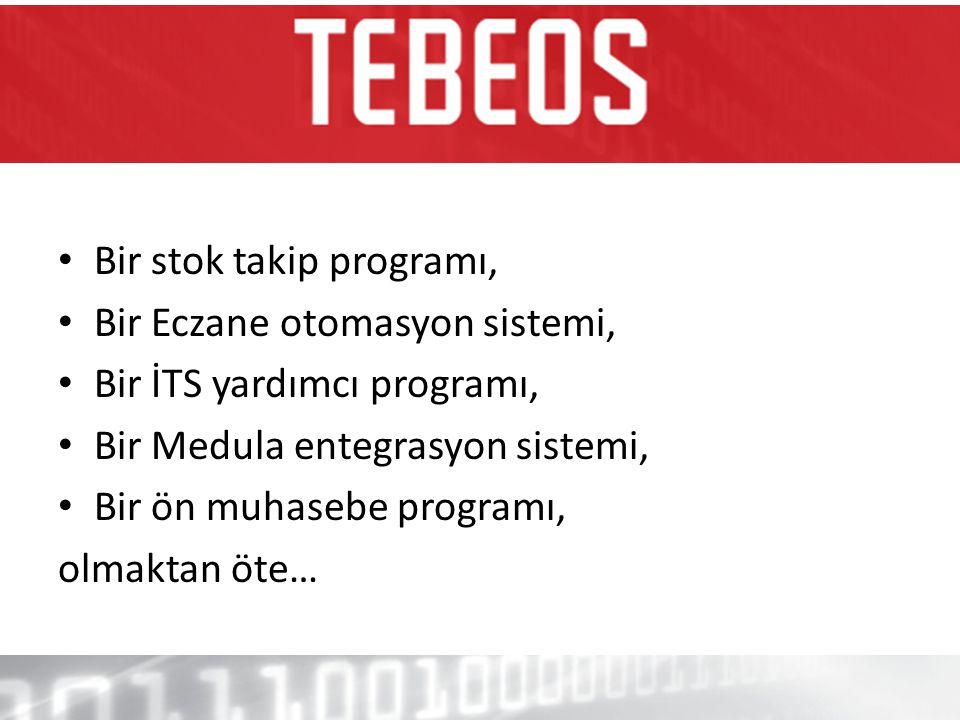• Bir stok takip programı, • Bir Eczane otomasyon sistemi, • Bir İTS yardımcı programı, • Bir Medula entegrasyon sistemi, • Bir ön muhasebe programı,