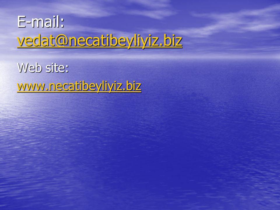 E-mail: vedat@necatibeyliyiz.biz vedat@necatibeyliyiz.biz Web site: www.necatibeyliyiz.biz