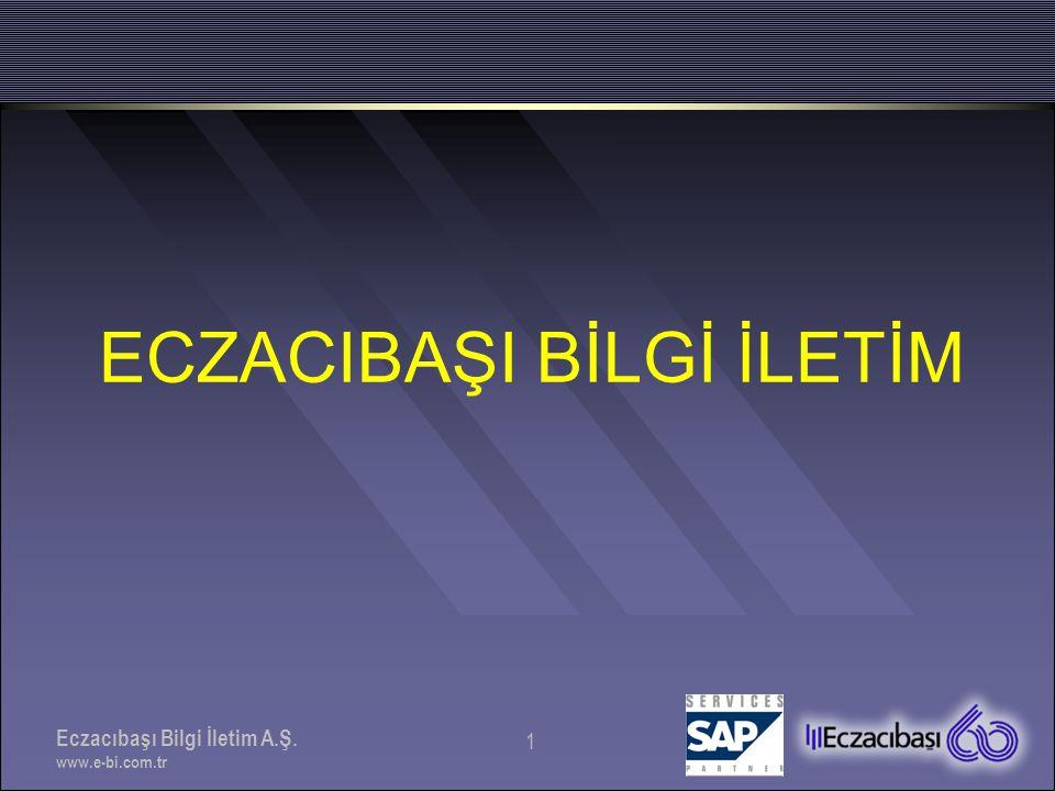Eczacıbaşı Bilgi İletim A.Ş. www.e-bi.com.tr 32 TEŞEKKÜRLER