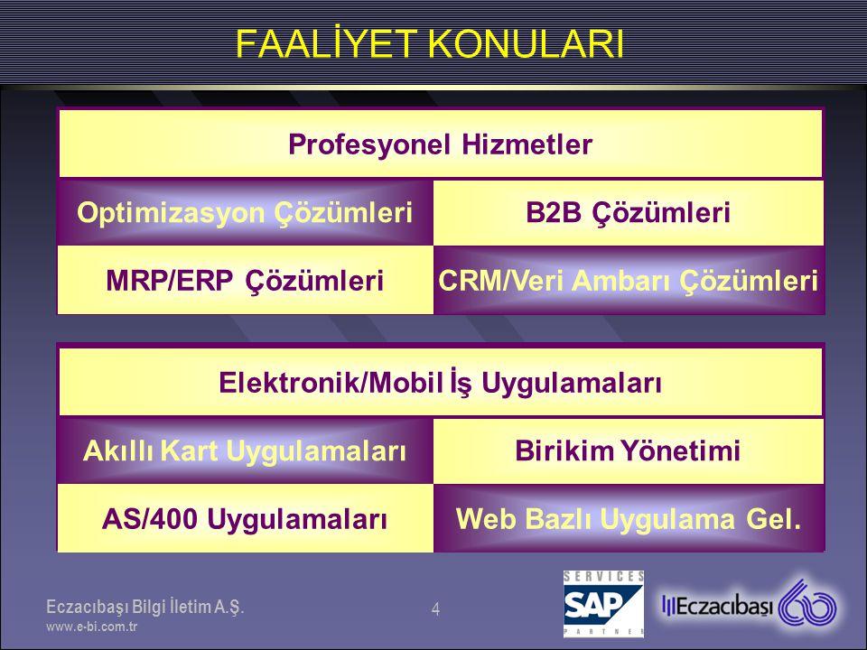 Eczacıbaşı Bilgi İletim A.Ş. www.e-bi.com.tr 5