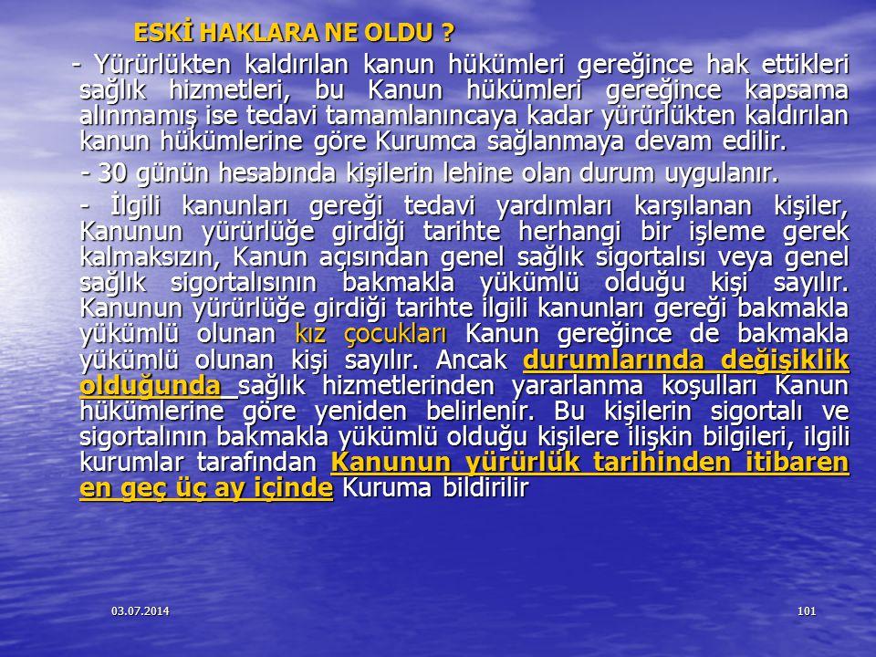 03.07.2014102 Kimlik gösterme zorunluluğu Kimlik gösterme zorunluluğu - Acil haller hariç olmak üzere SGK'dan provizyon alındıktan sonra ilgili kişinin provizyon alınan kişi olduğunu kanıtlaması gerekmektedir.