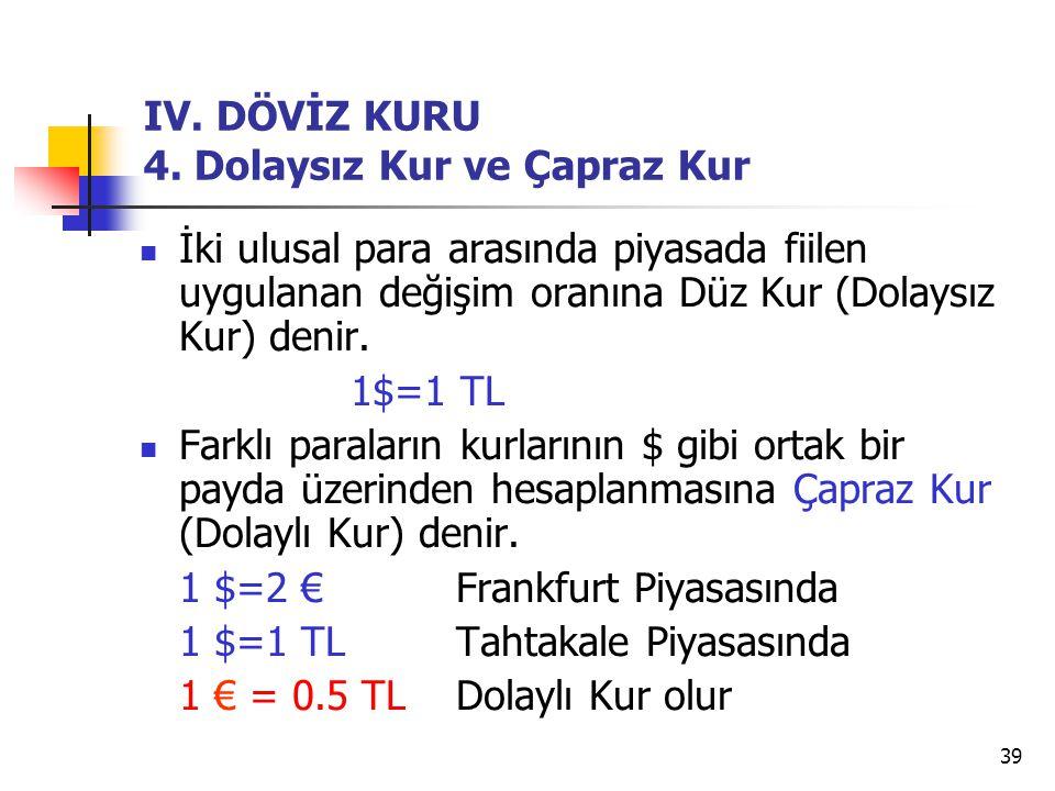 39 IV.DÖVİZ KURU 4.