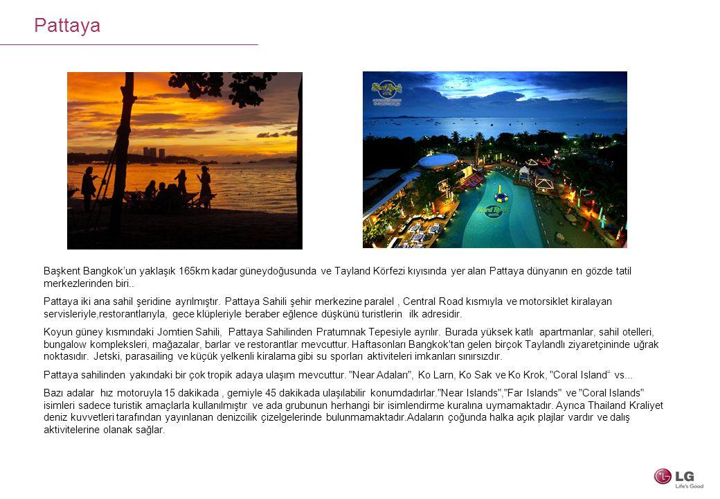 Başkent Bangkok'un yaklaşık 165km kadar güneydoğusunda ve Tayland Körfezi kıyısında yer alan Pattaya dünyanın en gözde tatil merkezlerinden biri.. Pat