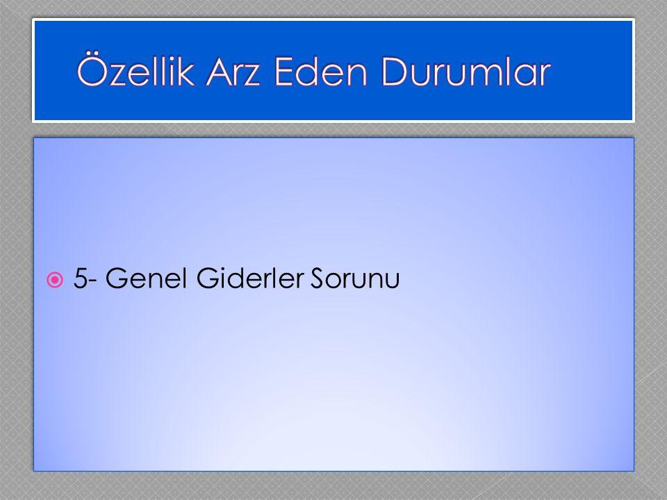  5- Genel Giderler Sorunu