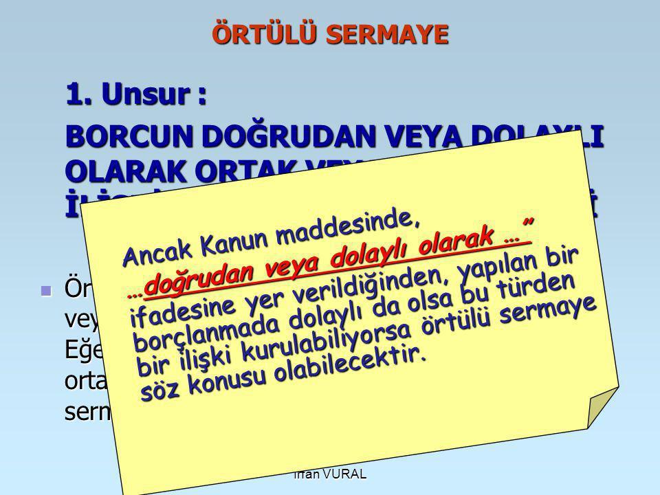 İrfan VURAL ÖRTÜLÜ SERMAYE 1.