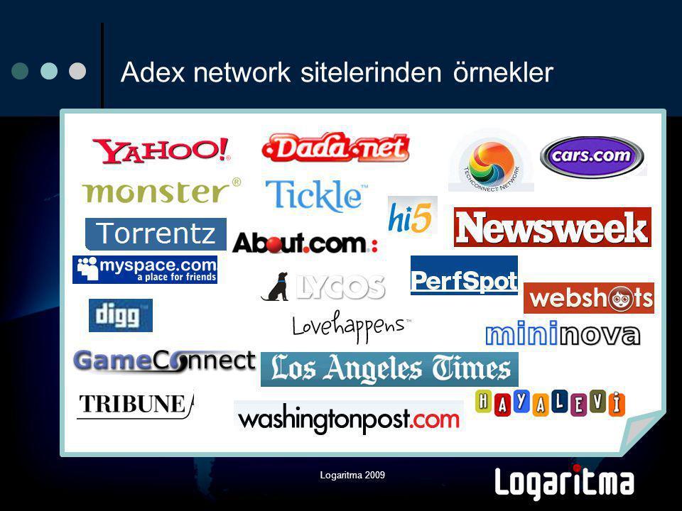 Logaritma 2009 Adex network sitelerinden örnekler