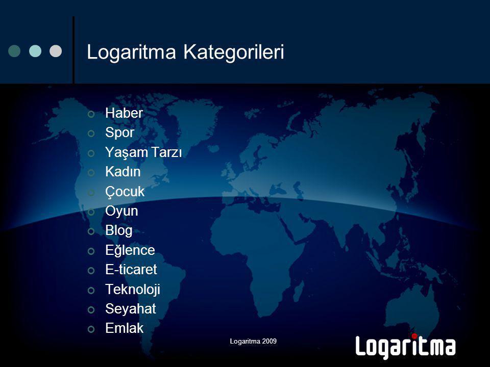 Logaritma 2009 Logaritma Kategorileri Haber Spor Yaşam Tarzı Kadın Çocuk Oyun Blog Eğlence E-ticaret Teknoloji Seyahat Emlak