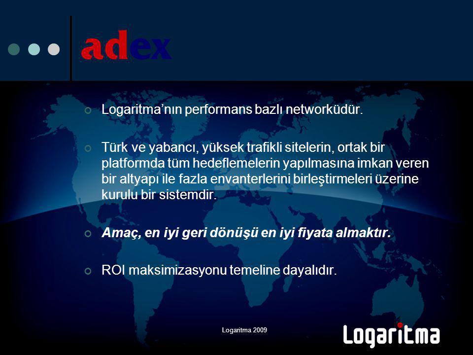 Logaritma 2009 adex'in faydası nedir.