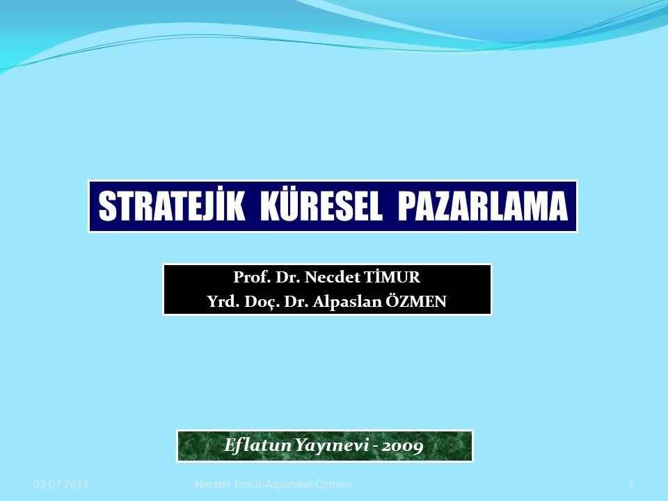 03.07.2014 Yrd.Doç.Dr.Alparslan ÖZMEN-Prof.Dr.Necdet TİMUR 22  Uluslararası reklamcılık sektöründe strateji ve uygulamalarda iki temel yaklaşım bulunmaktadır.
