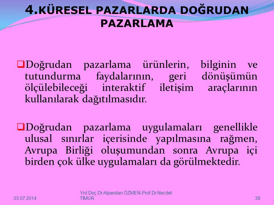 03.07.2014 Yrd.Doç.Dr.Alparslan ÖZMEN-Prof.Dr.Necdet TİMUR 39 4.