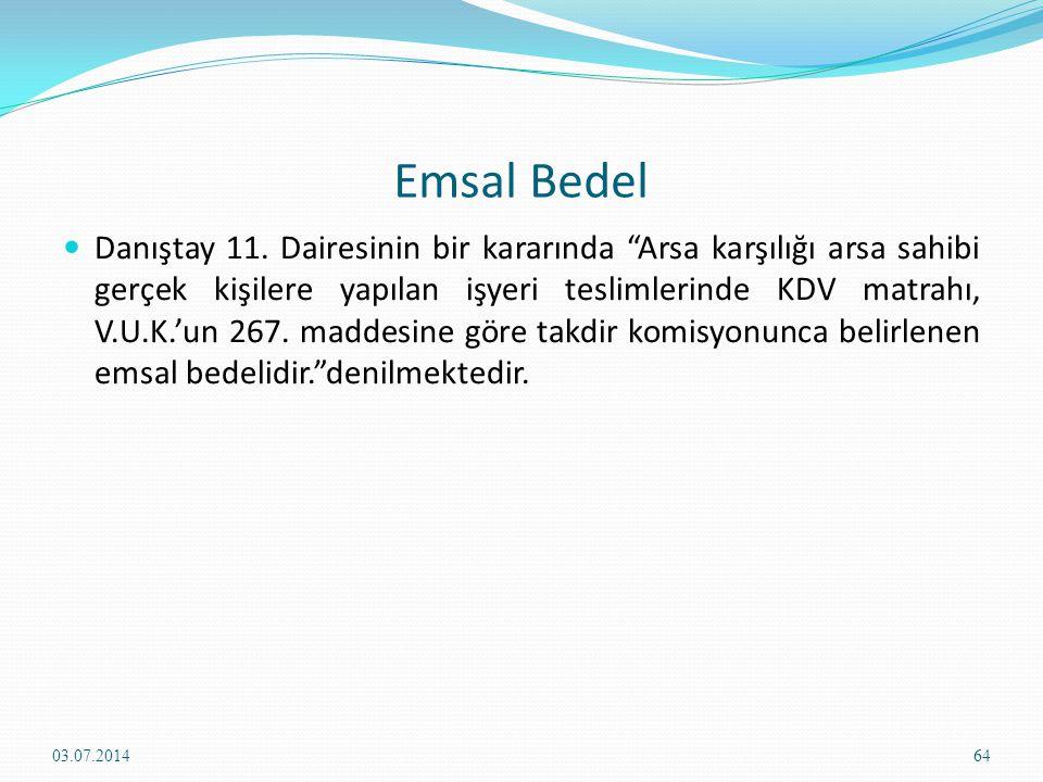 Emsal Bedel  Danıştay 11.