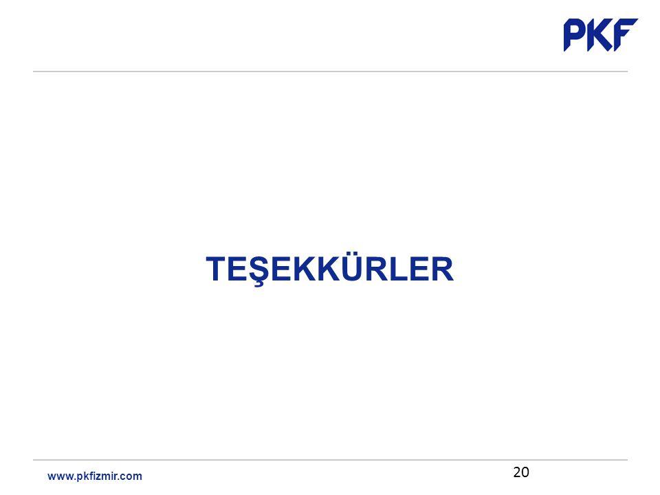 TEŞEKKÜRLER 20 www.pkfizmir.com