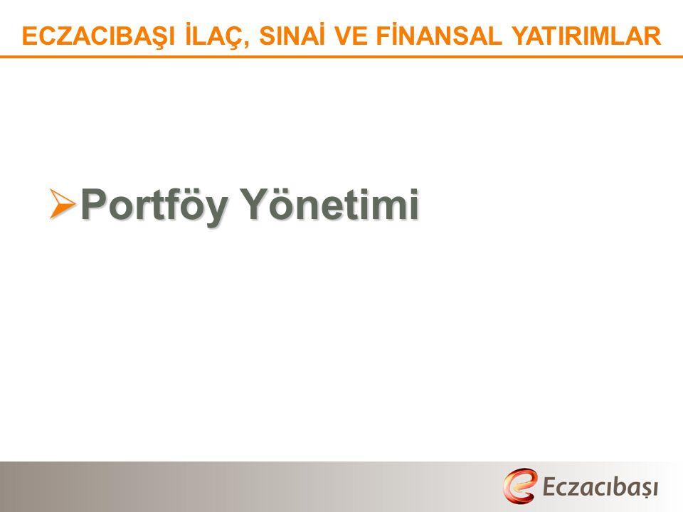  Portföy Yönetimi ECZACIBAŞI İLAÇ, SINAİ VE FİNANSAL YATIRIMLAR