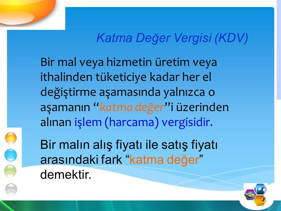 KDV'nin Özellikleri İndirim mekanizmasına sahiptir.