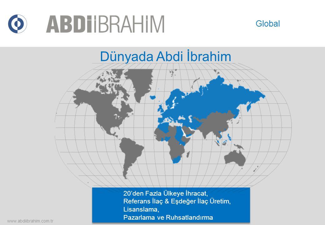 Dünyada Abdi İbrahim 20'den Fazla Ülkeye İhracat, Referans İlaç & Eşdeğer İlaç Üretim, Lisanslama, Pazarlama ve Ruhsatlandırma www.abdiibrahim.com.tr