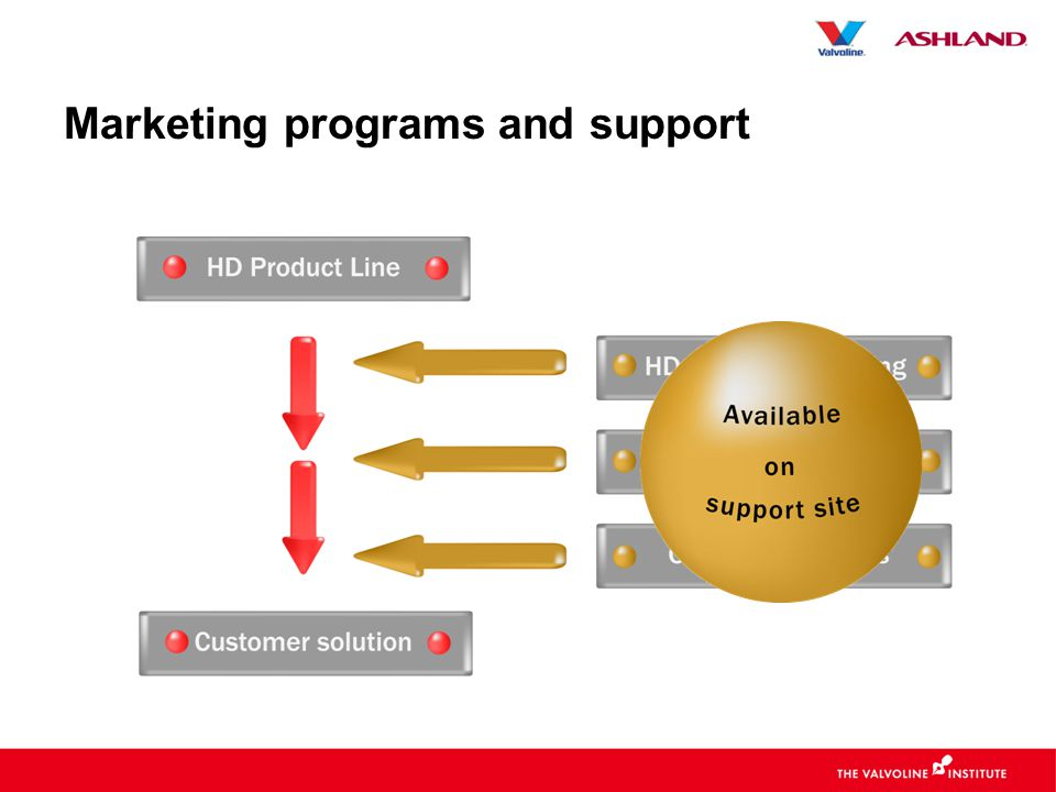 Marketing programs and support