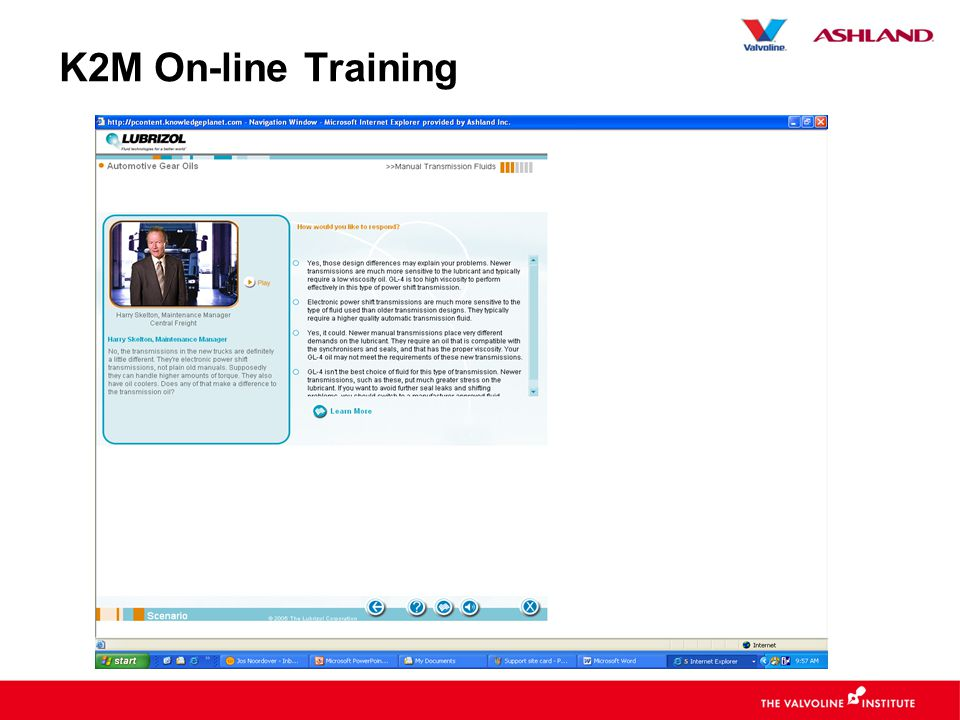 K2M On-line Training