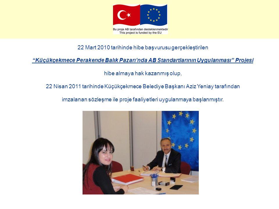 """22 Mart 2010 tarihinde hibe başvurusu gerçekleştirilen """"Küçükçekmece Perakende Balık Pazarı'nda AB Standartlarının Uygulanması"""" Projesi hibe almaya ha"""