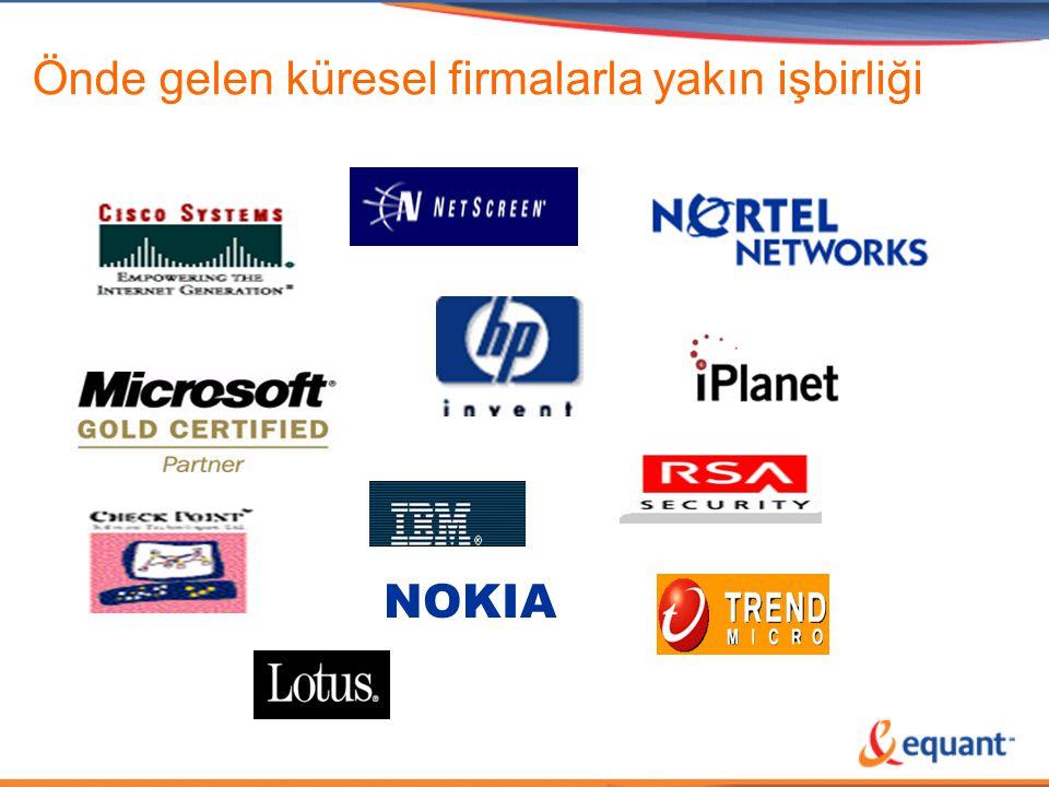 Önde gelen küresel firmalarla yakın işbirliği NOKIA