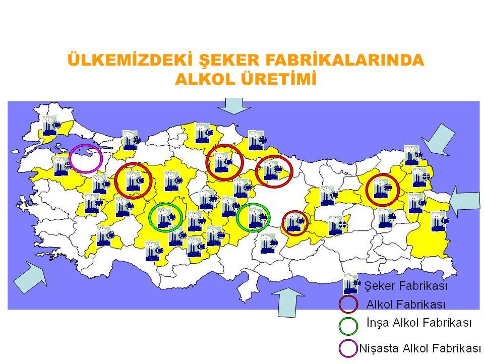 ÜLKEMİZDEKİ ŞEKER FABRİKALARINDA ALKOL ÜRETİMİ