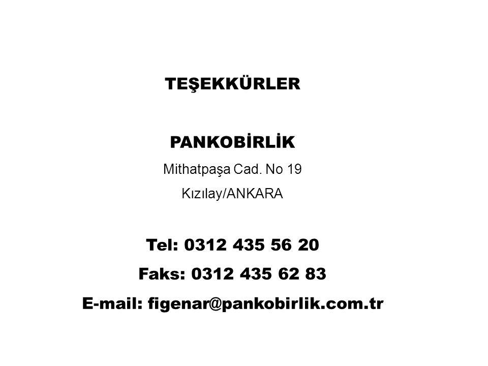 TEŞEKKÜRLER PANKOBİRLİK Mithatpaşa Cad.