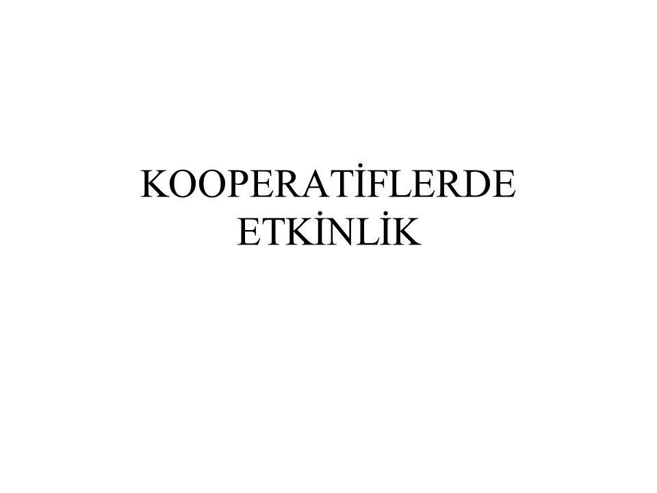 KOOPERATİFLERDE ETKİNLİK
