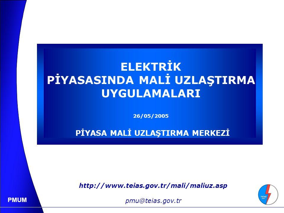 PMUM YAL, YAT Tekliflerinin Değerlendirilmesi 21.750 TL/kWh 36.250 TL/kWh 50.750 TL/kWh 65.250 TL/kWh 79.750 TL/kWh YAL İhtiyacı 2.000 MW TL/kWh 87.000 79.750 72.500 65.250 58.000 50.750 43.500 36.250 29.000 21.750 14.500 7.250