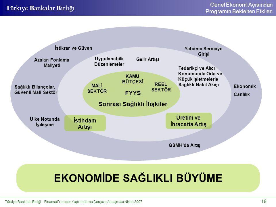 Türkiye Bankalar Birliği – Finansal Yeniden Yapılandırma Çerçeve Anlaşması Nisan 2007 19 Türkiye Bankalar Birliği KAMU BÜTÇESİ MALİ SEKTÖR REEL SEKTÖR