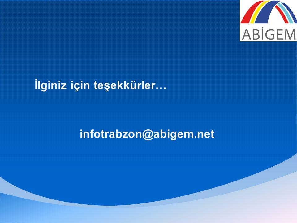 İlginiz için teşekkürler… infotrabzon@abigem.net