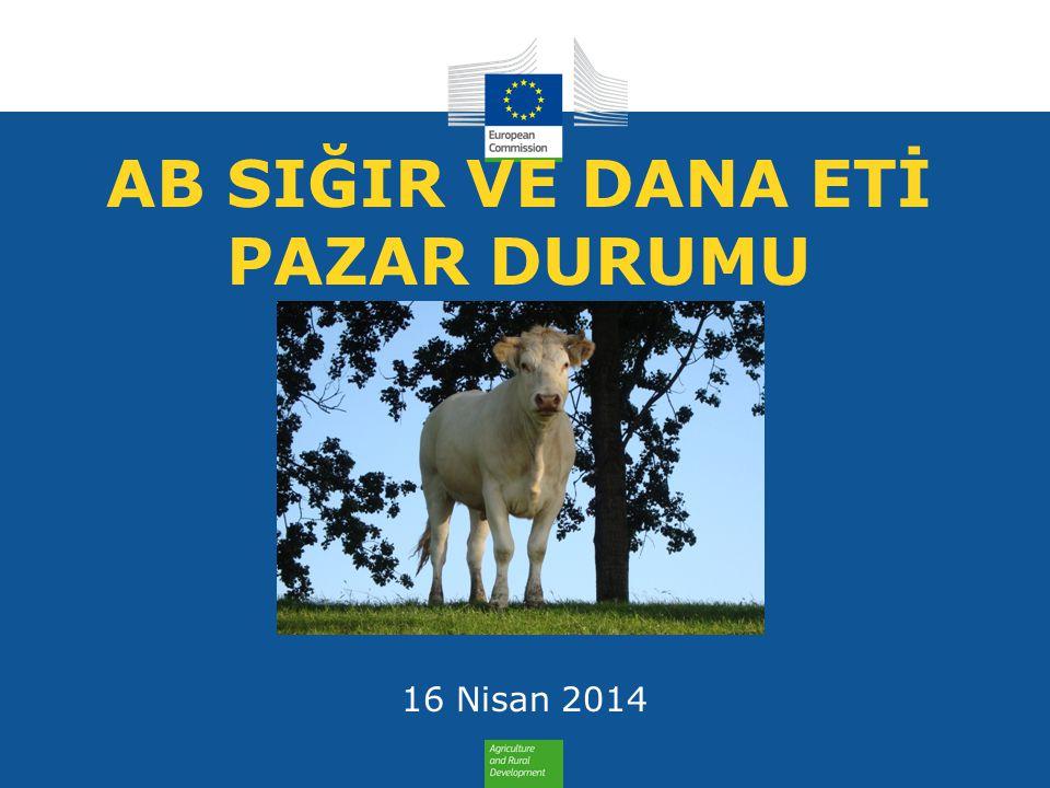 TİCARET AB Ticaret Dengesi Sığır Eti ve Canlı Hayvan AB Ticaret Dengesi Sığır Eti ve Canlı Hayvan Sığır Eti ve Canlı Hayvan Ticaret Dengesi