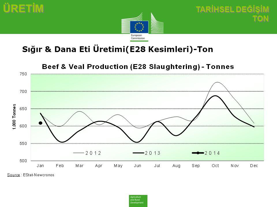 TİCARET AB İTHALATLAR SIĞIR ETİ VE CANLI HAYVAN AB İTHALATLAR SIĞIR ETİ VE CANLI HAYVAN AB Sığır Eti ve Canlı Hayvan İthalatları (2) Ticaret Verileri (COMEXT)