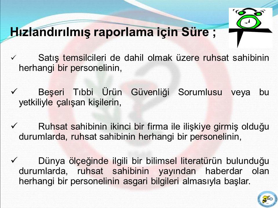 13 Türkiye Dışında Gerçekleşen Ciddi Advers Etkiler -I Bu raporlar ürünün bilinen risk/yarar profilini değiştiriyorsa derhal ve her durumda, söz konusu bilginin alınmasını takiben en geç 15 gün içinde TÜFAM'a bildirilmelidir.