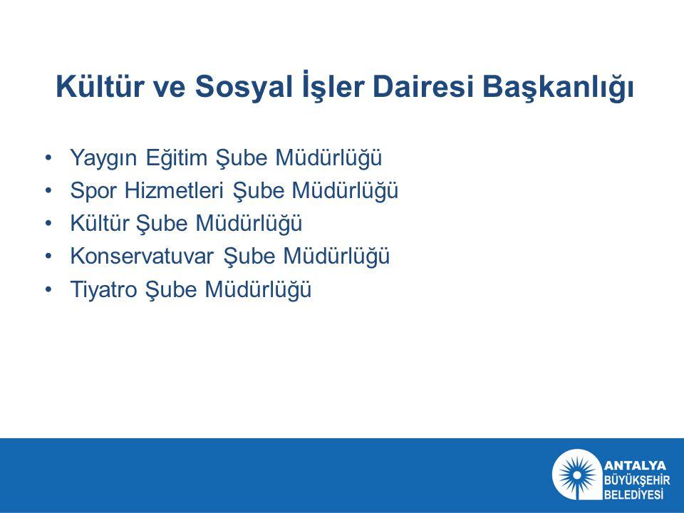 Kültür ve Sosyal İşler Dairesi Başkanlığı olarak Amacımız; Antalya'nın geleceğine yatırım yapmaktır.