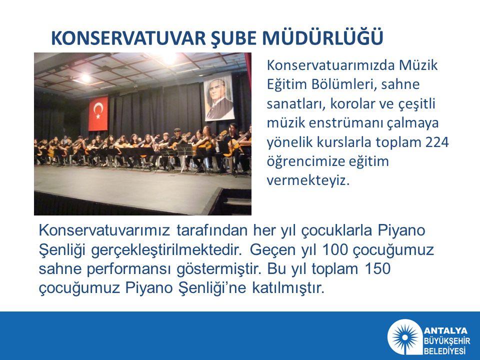 KONSERVATUVAR ŞUBE MÜDÜRLÜĞÜ Konservatuarımızda Müzik Eğitim Bölümleri, sahne sanatları, korolar ve çeşitli müzik enstrümanı çalmaya yönelik kurslarla