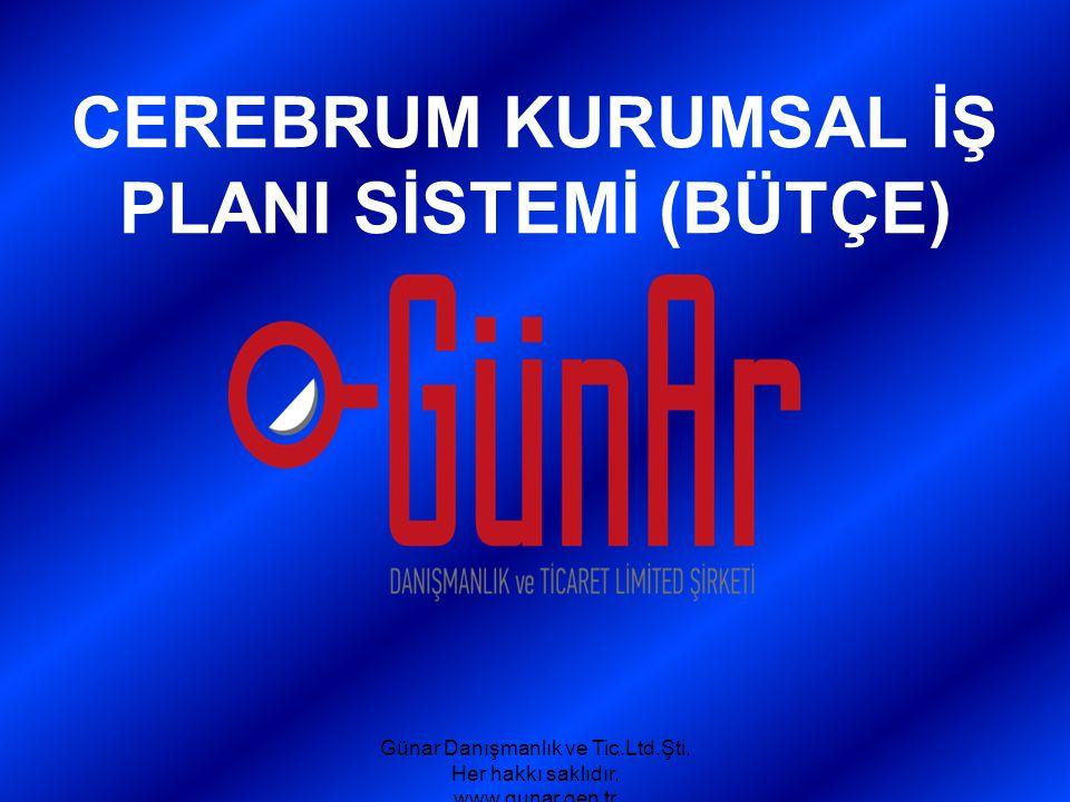 CEREBRUM KURUMSAL İŞ PLANI SİSTEMİ (BÜTÇE) Günar Danışmanlık ve Tic.Ltd.Şti. Her hakkı saklıdır. www.gunar.gen.tr