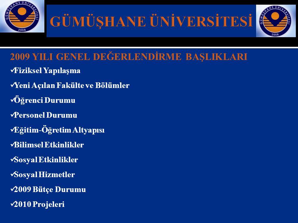  2008-2009 akademik yılı mezuniyet törenine Sanatçı Akın AKINTÜRK, Gümüşhane Üniversitesi Türk Halk Müziği Topluluğu ve Kelkit Halk Oyunları Ekibi katıldı.
