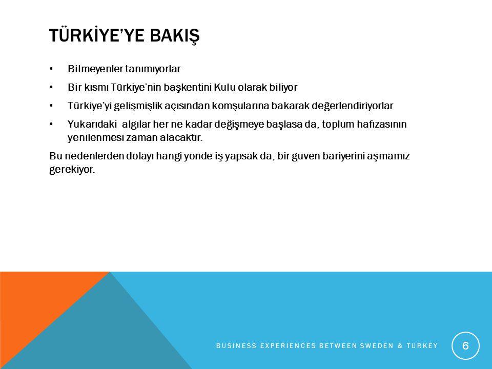 TÜRKİYE'YE BAKIŞ • Bilmeyenler tanımıyorlar • Bir kısmı Türkiye'nin başkentini Kulu olarak biliyor • Türkiye'yi gelişmişlik açısından komşularına baka