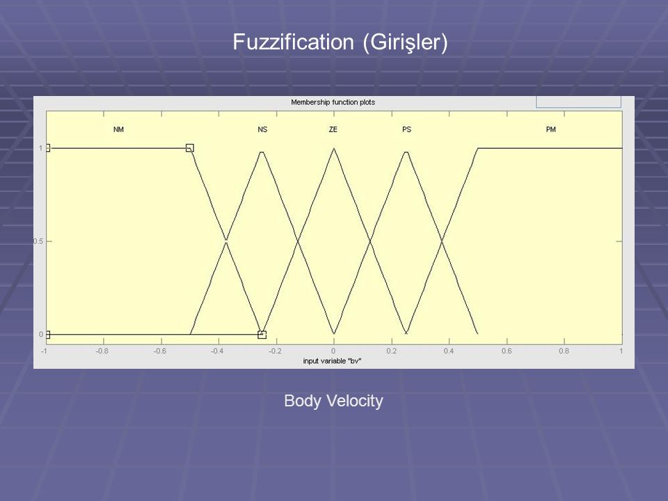 Fuzzification (Girişler) Body Velocity