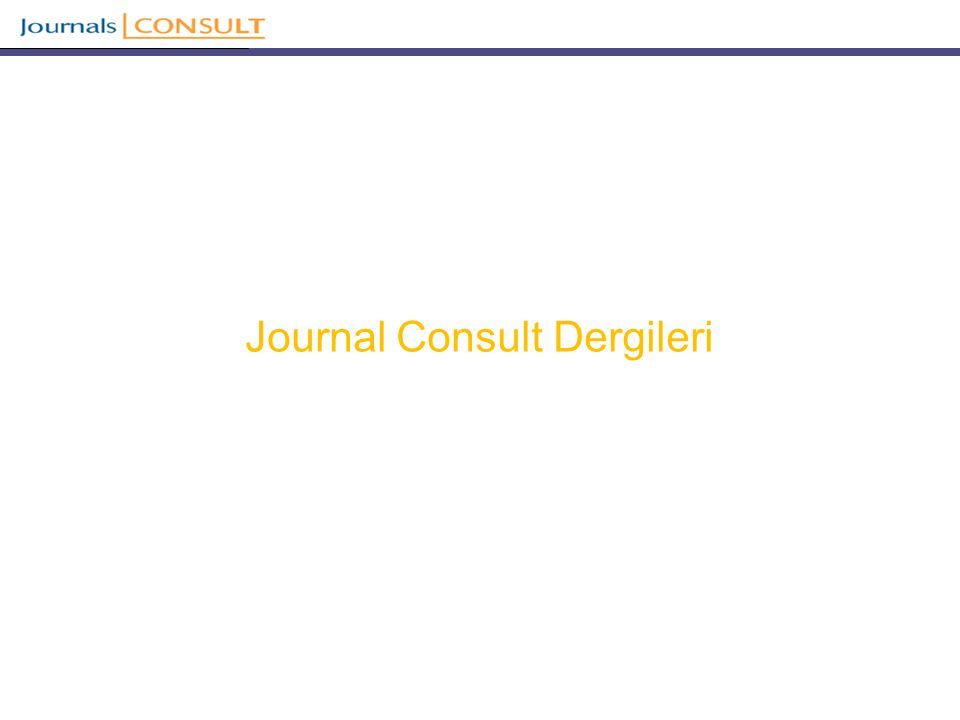 Journal Consult Dergileri