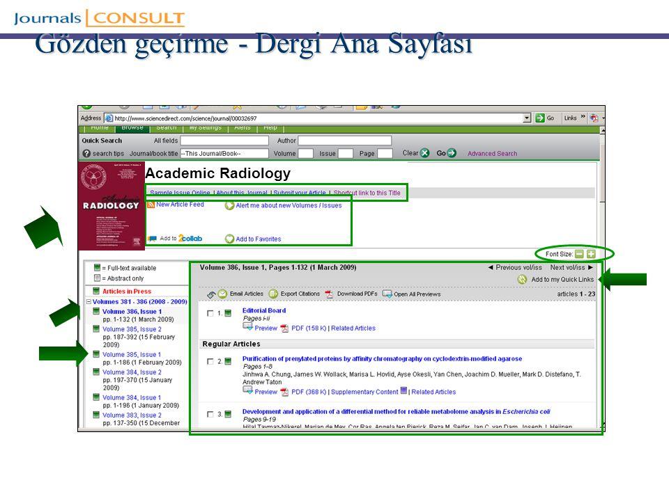 Gözden geçirme - Dergi Ana Sayfası Academic Radiology