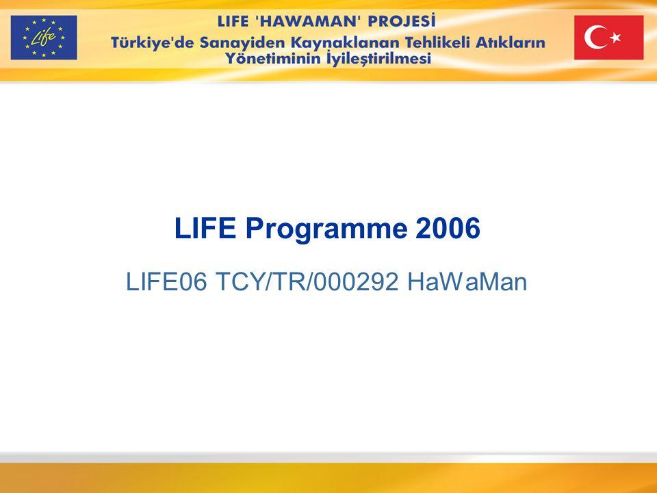 LIFE TCY/TR/000292 Finansör: Avrupa Komisyonu, Çevre Genel Müdürlüğü Finansman desteği 580.000 €'ya kadar.