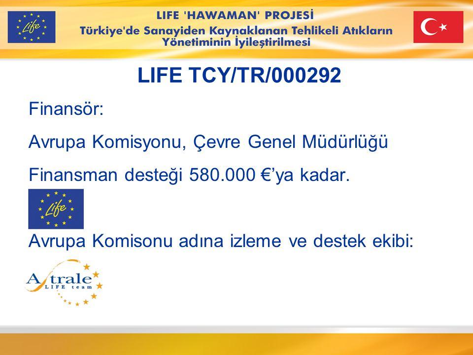 Ortaklık Faydalanan ve Taraf: TC Çevre ve Orman Bakanlığı 30.000 € Finansal destek Taraf: Proje yönetimi Teknik uzmanlık German Technical Cooperation 200.000 € finansal destek